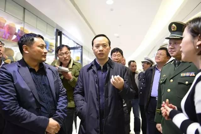 湘潭市常务副市长谈文胜一行视察湘潭步步高广场安全生产工作